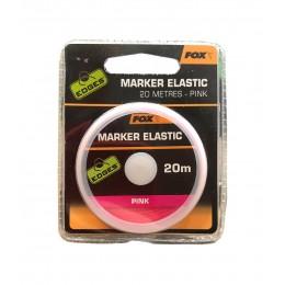 Эластичная маркерная резина Розовая Fox  - EDGES Marker Elastic Pink, 20 м